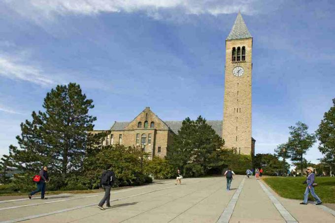 McGraw Tower and Chimes, kampus Universitas Cornell, Ithaca, New York